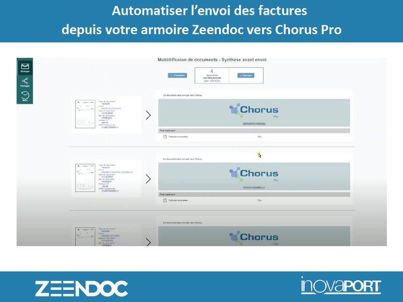 Zeendoc automatise l'envoi des factures concernées vers Chorus Pro