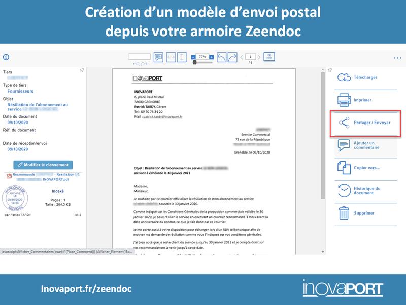 Dématérialisation du courrier : envoyer un courrierpostal directement depuis Zeendoc