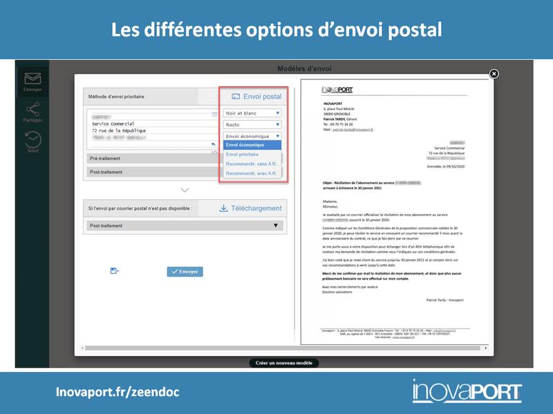 Dématérialisation du courrier : les différentes options d'envoi postal depuis Zeendoc