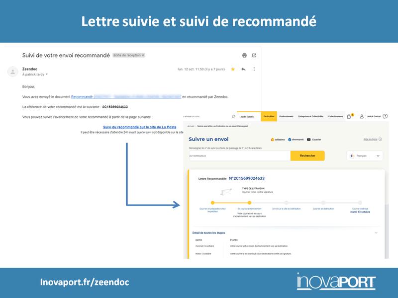 Dématérialisation du courrier : Lettre suivie et suivi de recommandé directement dans votre boite mail