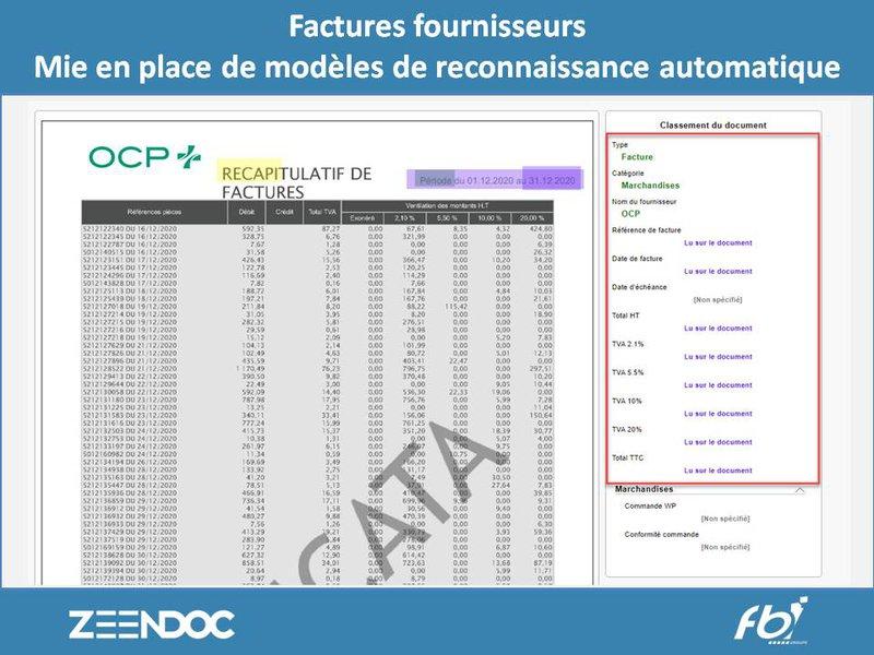 Zeendoc pour la gestion des pharmacies - Reconnaissance automatique de factures founisseurs